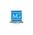 initial letter mg logo template design vector image vector image