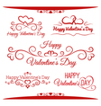Inscriptions for Valentines Day vector image