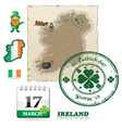 Ireland icons vector image vector image