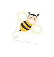 isolated haapy bee flying on a white background vector image