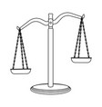 isolated object of law and lawyer logo set of law vector image