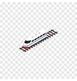 isolated speed train isometric underground vector image