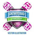 Label for snowboard and winter sport competition vector image vector image