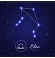 Libra Zodiac Sign Stars on the Cosmic Sky vector image vector image