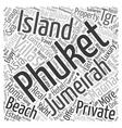Memorable trip to Jumeirah Island A tropical vector image vector image