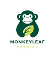 monkey leaf logo icon vector image vector image