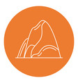 mountain icon in thin line style vector image vector image