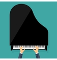 Musical flat background vector image vector image