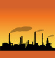 oil refinery industry silhouette in daytime vector image vector image