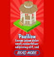 pavilion concept banner comics isometric style vector image