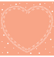 pink romantic card with ornamental heart vector image vector image