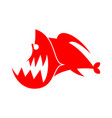 piranhas logo sign marine predator fish of amazon vector image vector image
