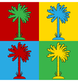 Pop art palm icons vector image