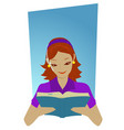 reading vector image vector image
