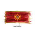 realistic watercolor painting flag of montenegro vector image vector image