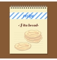 Recipe Book Pita Bread vector image vector image