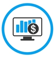 Sales Monitor Icon vector image