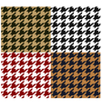 seamless houndstooth fabric pattern vector image vector image