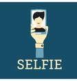 Selfie Photo flat design vector image vector image