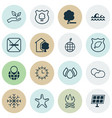 set of 16 eco icons includes house sun power vector image vector image