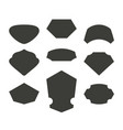 set of monochrome shelds vector image