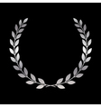 Silver laurel wreath icon 1 vector image
