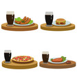 tasty food and drink vector image