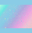 unicorn background with rainbow mesh fantasy vector image vector image