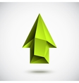 Up Green Arrow vector image vector image