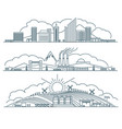 urban landscape linear icons set vector image