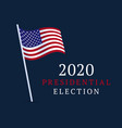 usa vote banner 2020 united states america vector image vector image