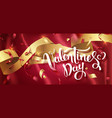valentines day handwritten text with confetti vector image