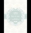 Wedding invitation card Vintage ornate card vector image vector image