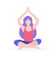 woman doing yoga flat isolated vector image
