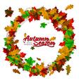 Autumn season round frame vector image