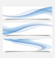 blue waves on a white backgroundset of banners vector image