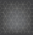abstract light grey background necker cube vector image