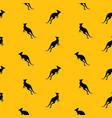 animal seamless pattern background with kangaroo