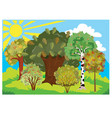 autumn landscape during sunny weather forest vector image vector image