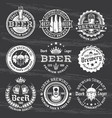 beer and brewery white emblems on dark vector image