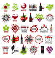 biggest collection of logos wine vector image vector image
