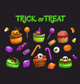 cartoon holiday sweets spooky halloween treats vector image