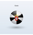 Ceuta round flag vector image vector image