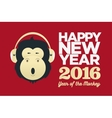 chinese year monkey 2016 new year vector image vector image