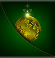 christmas ball with snowflakes in your pocket vector image vector image