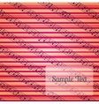 Colorfur striped musical background with a place vector image vector image