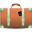 Coral Travel Suitecase vector image