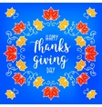 Flat design style Happy Thanksgiving Day badge vector image