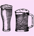 glass beer foam vector image vector image