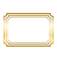 Gold frame Beautiful simple golden style vector image vector image